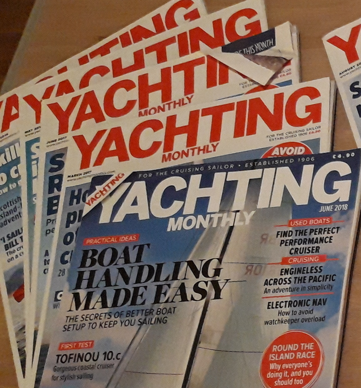5 x yachting monthly magazines  image 1
