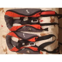 2 x Seago self inflating life jackets with crotch strap image 1